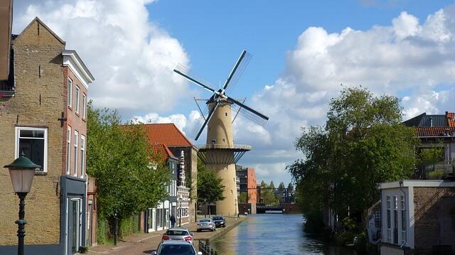 オランダの水車